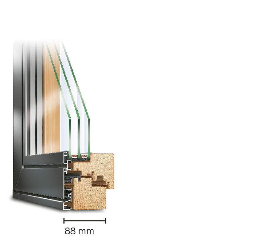 IDEAL PLANO | Holz-Aluminium-Fenster