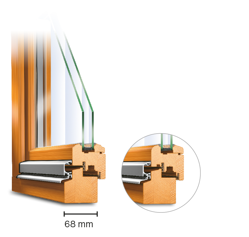 Serie IV 68 IDEAL Holzfenster